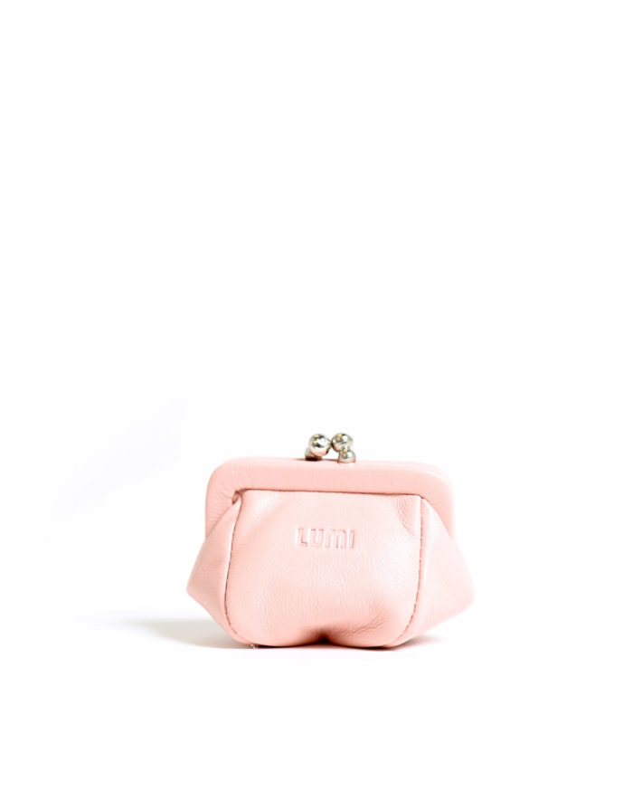 LUMI Aurora Jewellery Purse, in Baby Pink.