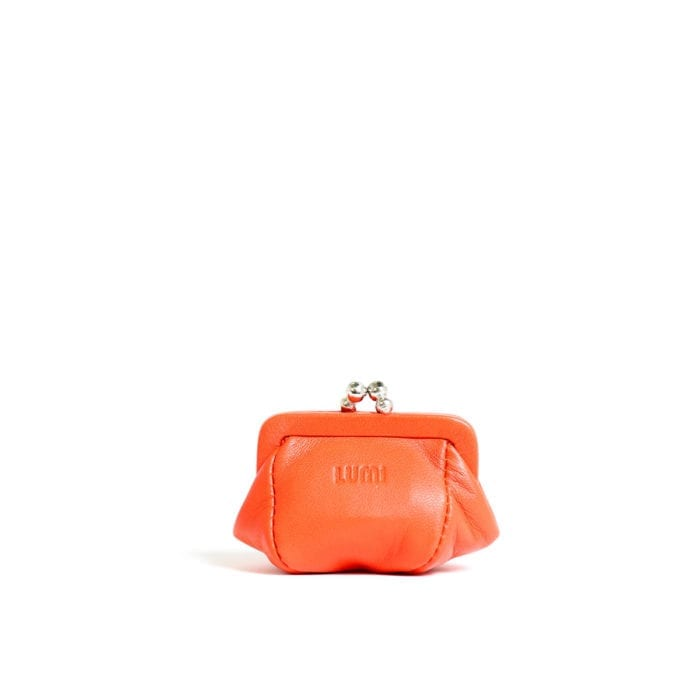 LUMI Aurora Jewellery Purse, in coral.