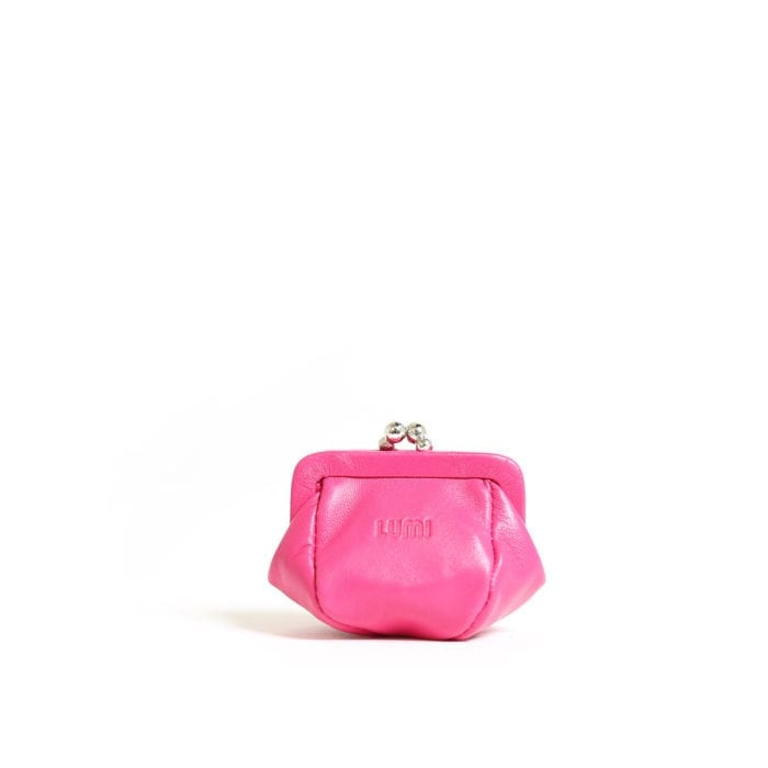 LUMI Aurora Jewellery Purse, in pink.