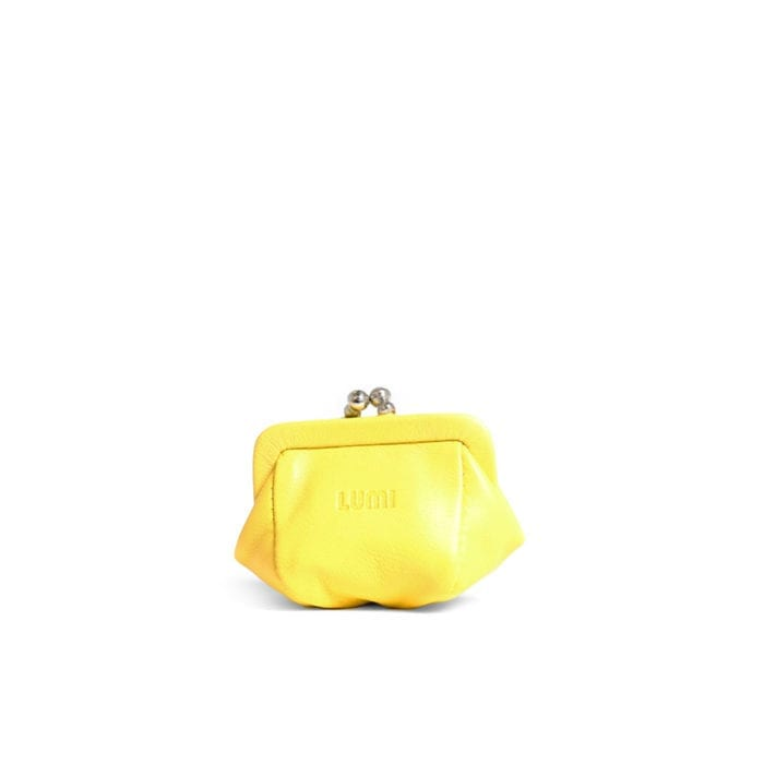 LUMI Aurora Jewellery Purse, in yellow.