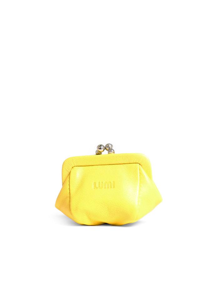 LUMI Aurora Jewellery Purse, in yellow.