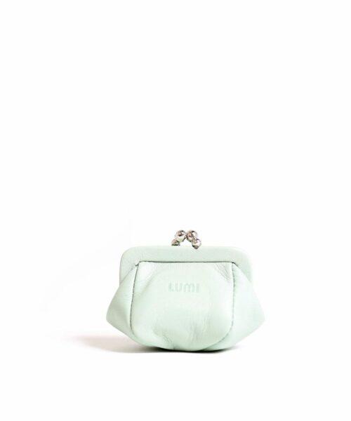 LUMI Aurora Jewellery Purse, in mint.