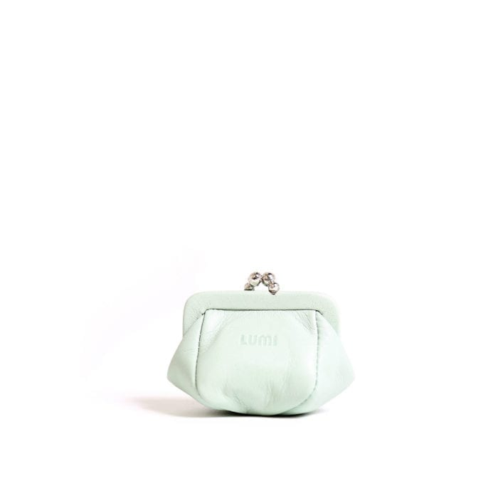 LUMI Aurora Jewellery Purse, in mint.