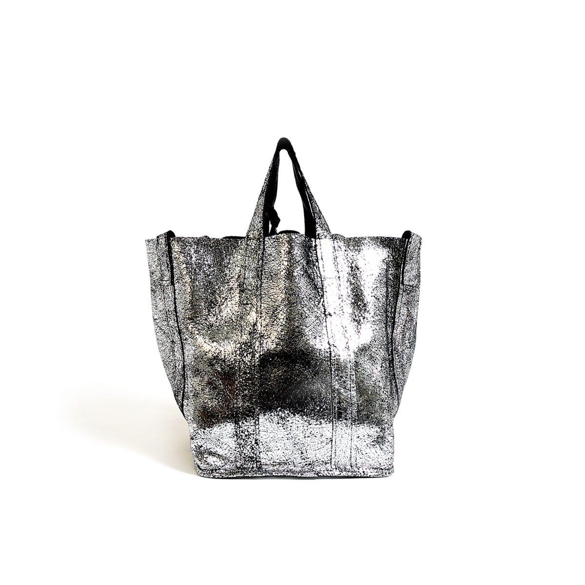 8a00fd37dad98 Frida Small Tote Floater Black Silver – Lumi Accessories