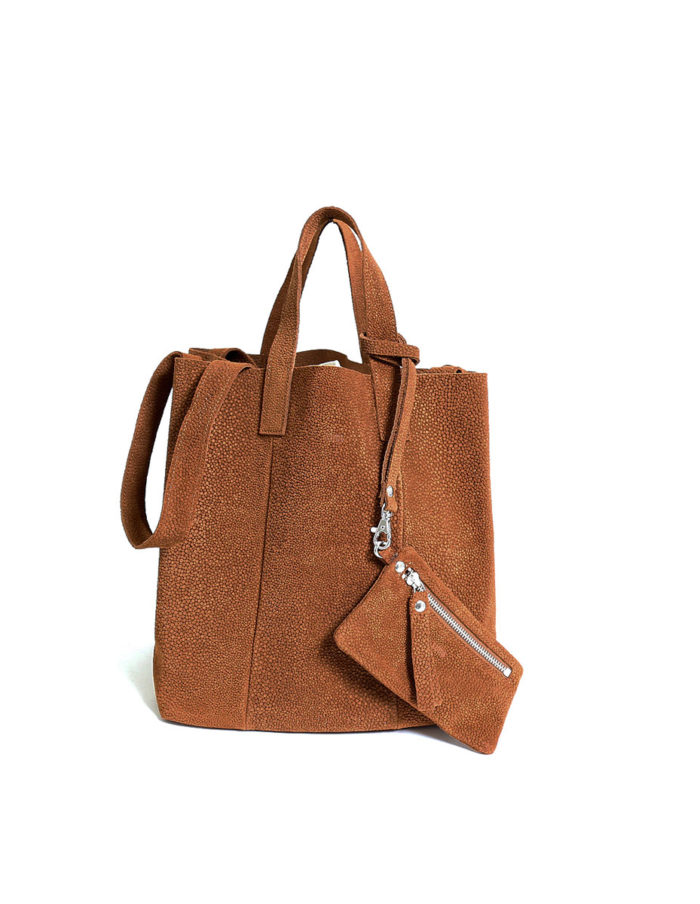 Frida Small Tote Bubbles, colour cognac