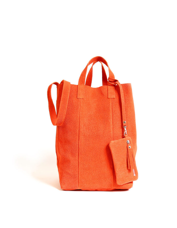 LUMI Linda Large Tote Bubbles, in coral