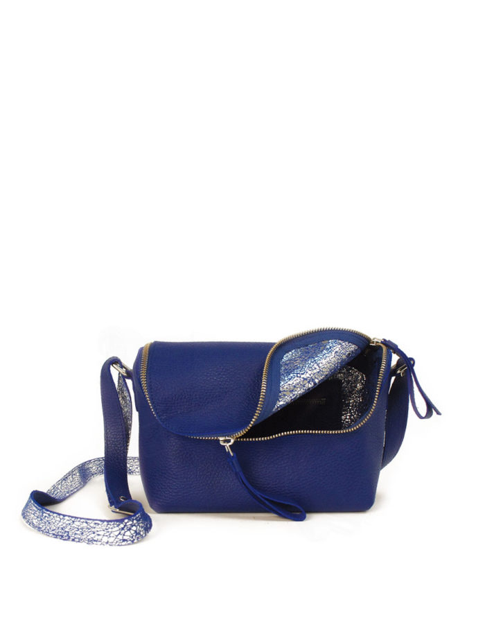 LUMI Rita Mini Bag, in blue/silver, is from our Limited Edition. Rita makes a perfect daily accessory for any occasion.