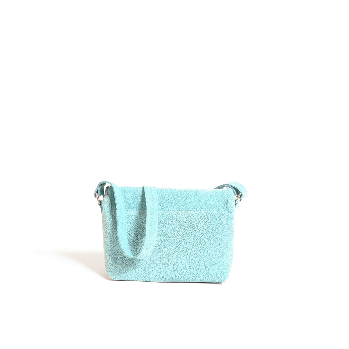 LUMI Rita Mini Bag Bubbles, in turquoise, from back
