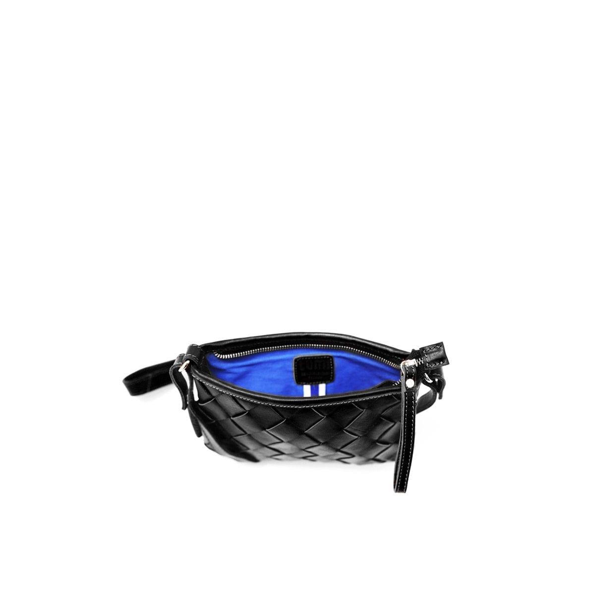 LUMI Toarie Woven Clutch Small, in black
