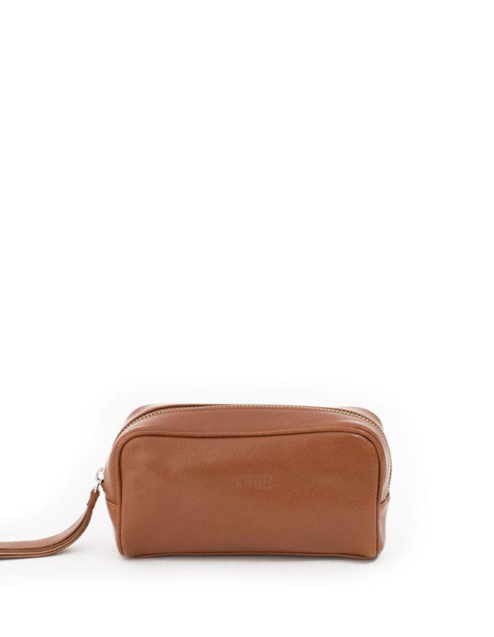 Lumi Andrea Cosmetic Bag Cognac