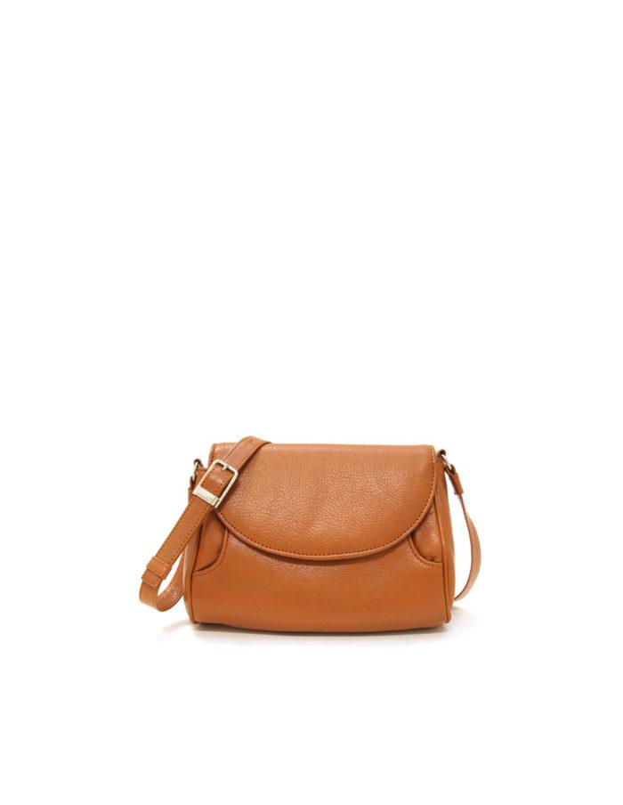 Lumi Jenna Pouch Bag Cognac