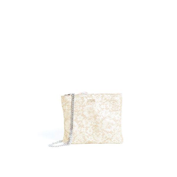 LUMI Laura Envelope Clutch, in lace beige.