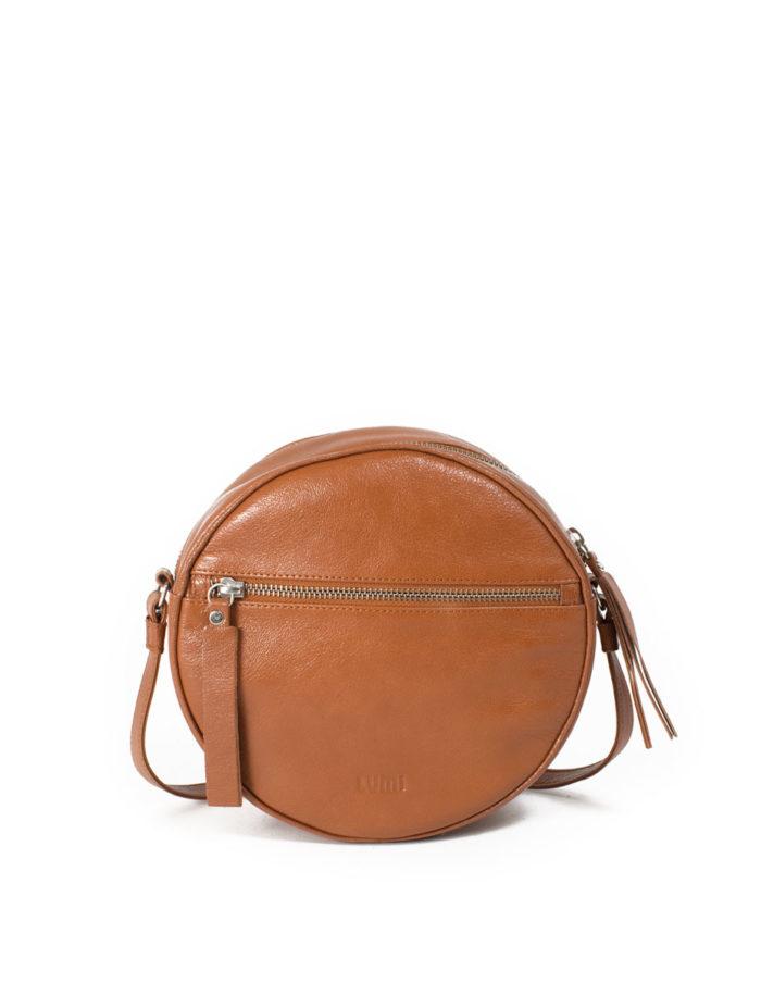 Lumi Lila Round Bag Cognac