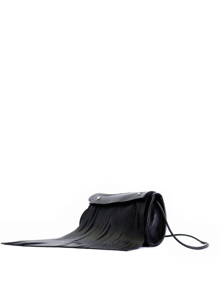LUMI Aalto Evening Bag, in black.