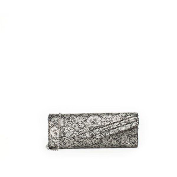 LUMI Hannele Clutch, in lace black.