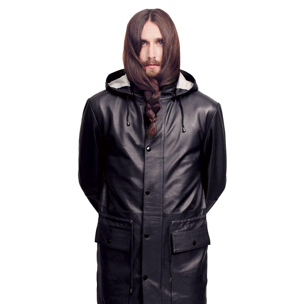 Men's Leather Anorak