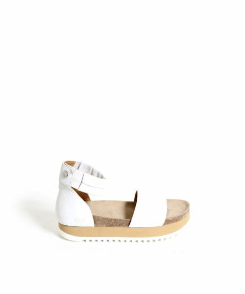 LUMI Birgitta Cork Sandals, in white, make the perfect summer shoe for every occasion.