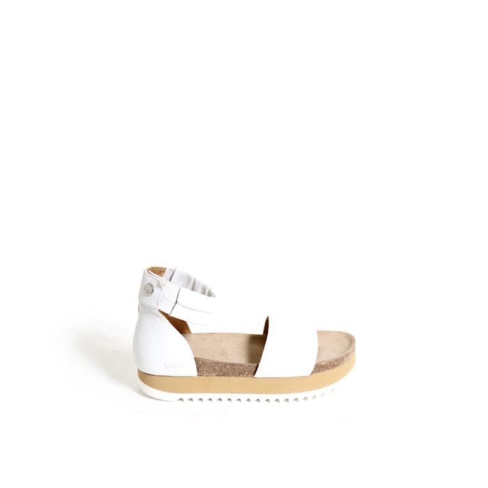 LUMI Birgitta Cork Sandals, in white, make the perfect summer shoe for every occasion.