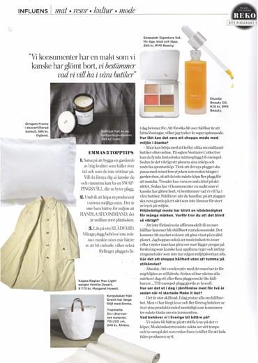 Lumi Scent Line featured inPlaza Interiör issue 5