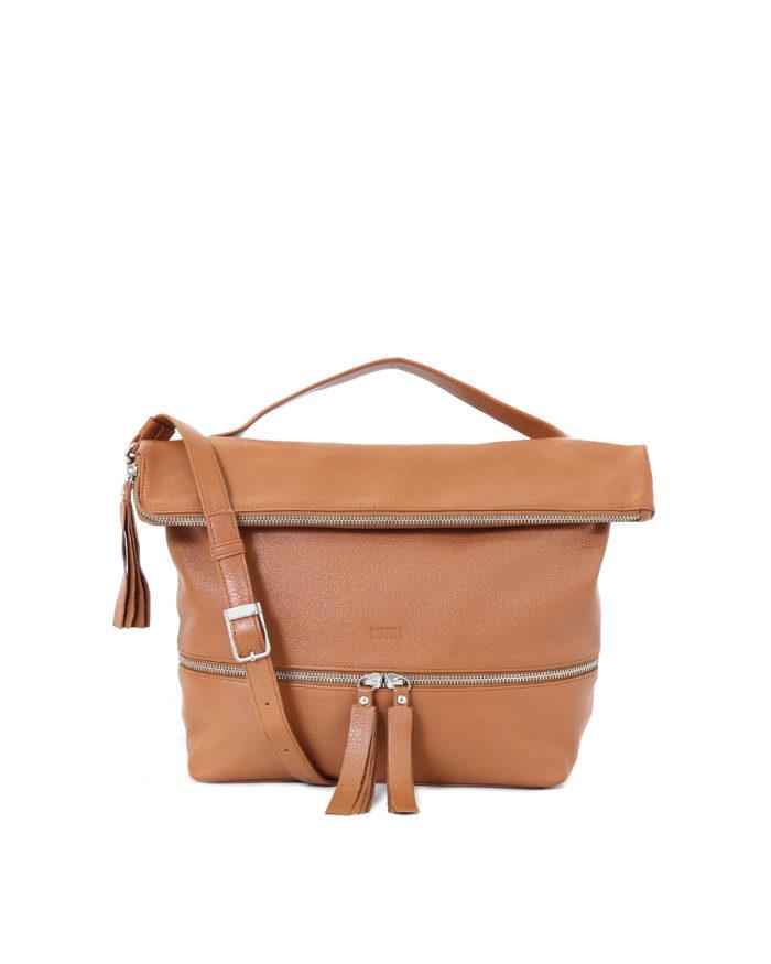 Lyydia Shoulder Bag in cognac.