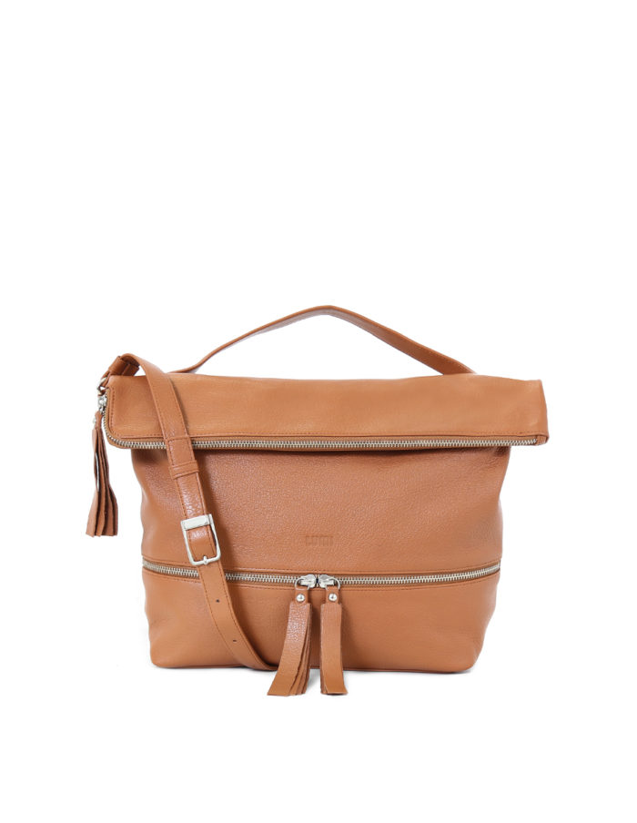 Lyydia Shoulder Bag in cognac.