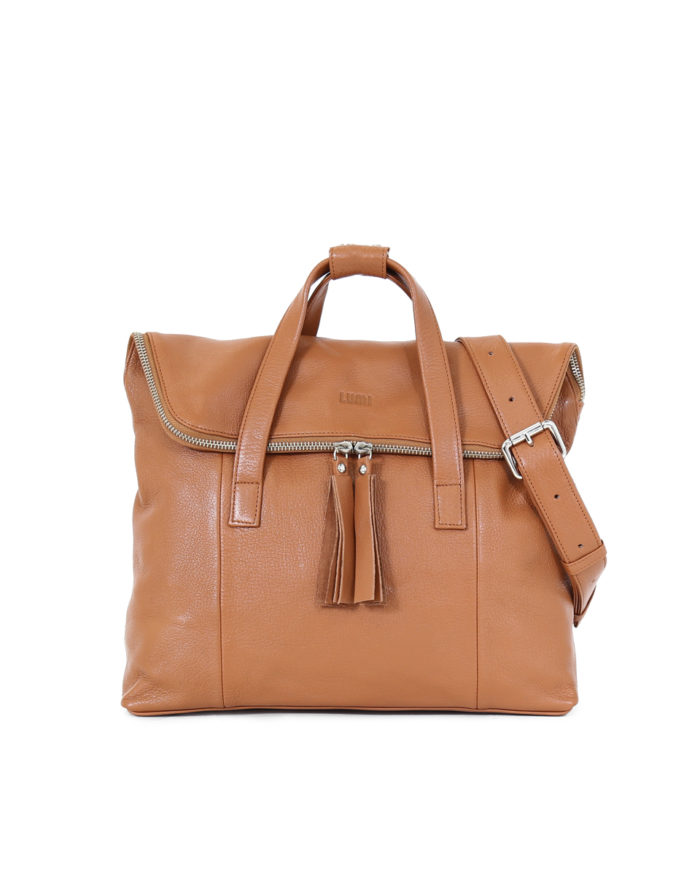 LUMI Saara Backpack Cognac.