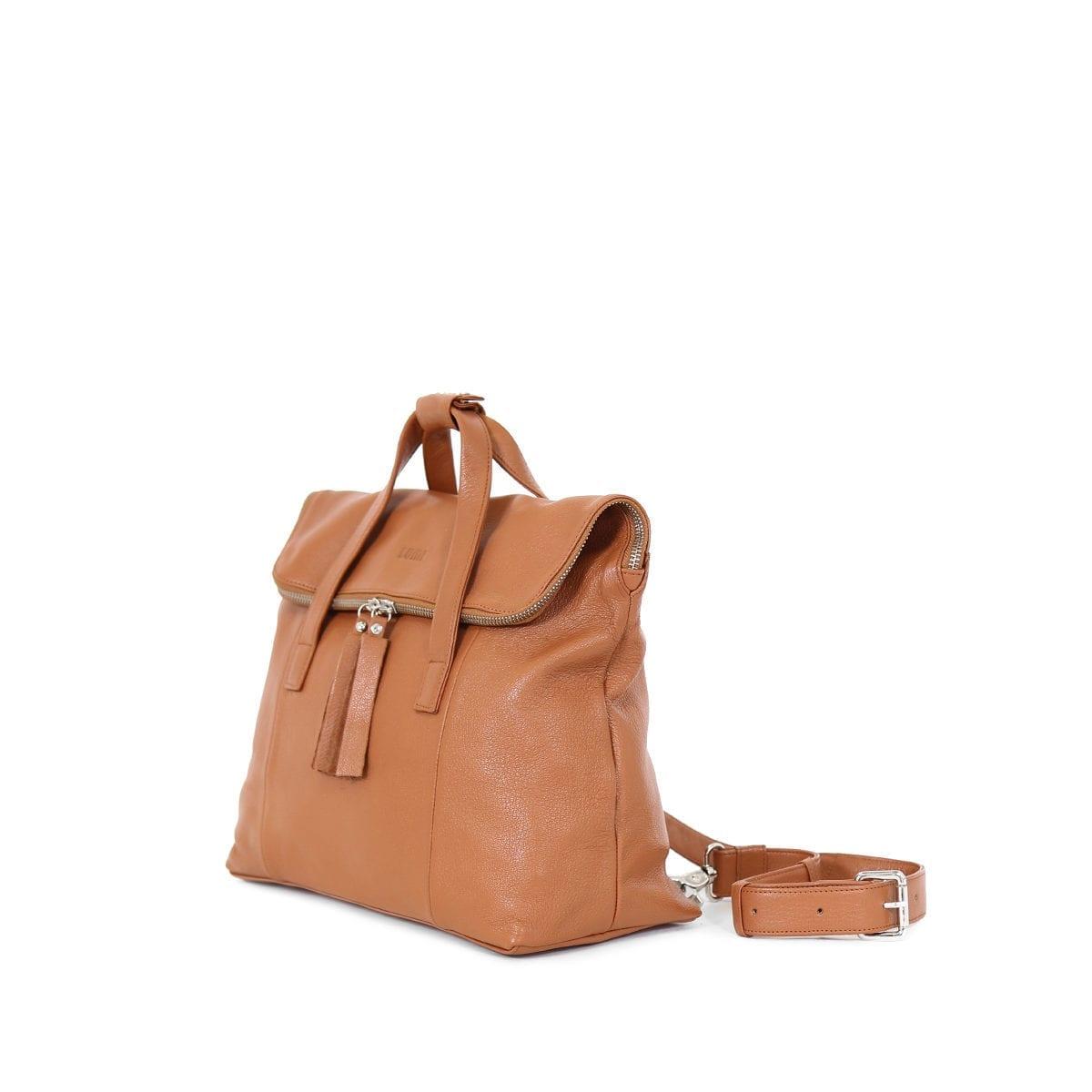 LUMI Saara Backpack Cognac.