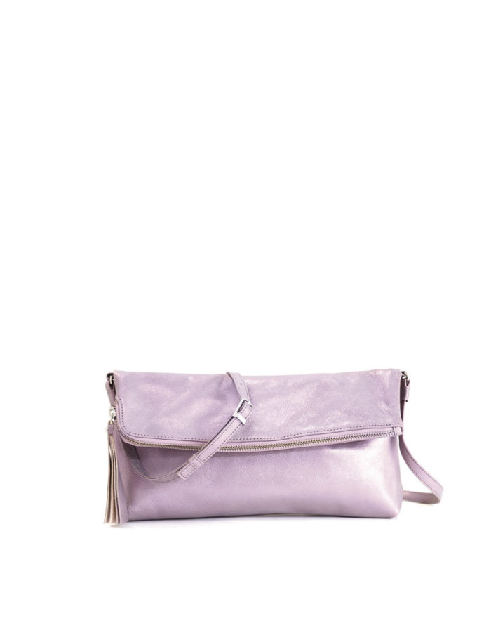 LUMI Stefanie Large Pouch, in bougainvillea pink, is made of vegetable tanned goat leather. Chemical free dyeing.