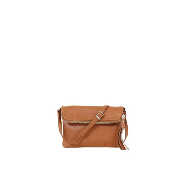 LUMI Stella Pouch Bag Cognac