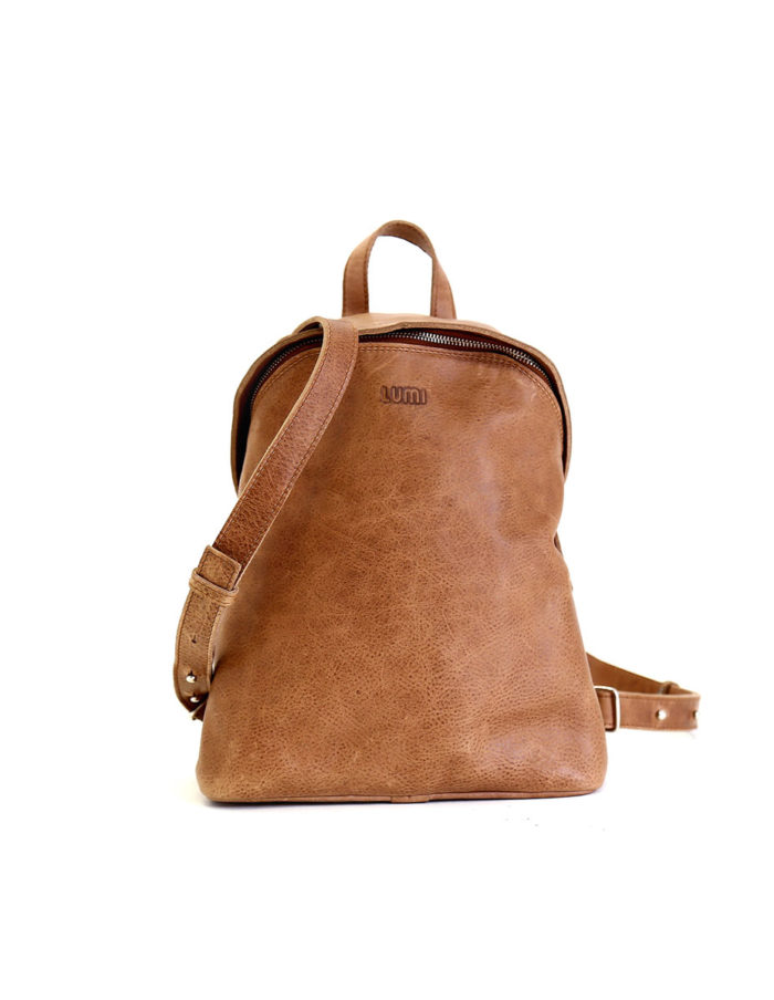 LUMI Tapio Backpack, in beige, is all about urban functionality.
