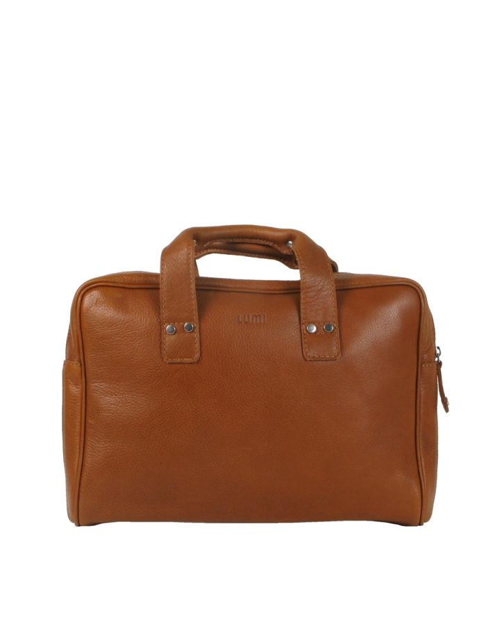 LUMI JUHANA Laptop Pocket in cognac
