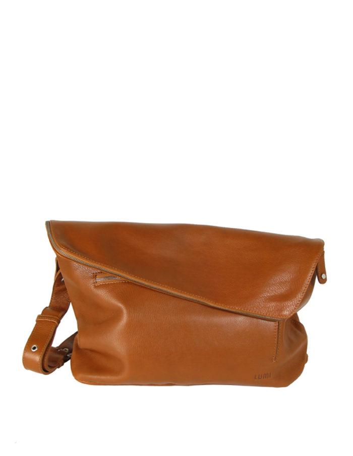 LUMI THEODORE Messenger Bag in cognac