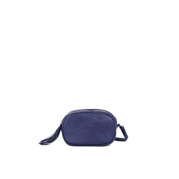 LUMI Jasmin Oval Bag in ocean blue.