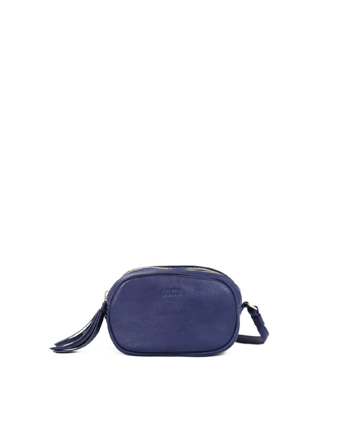LUMI Jasmin Oval Bag in ocean blue.