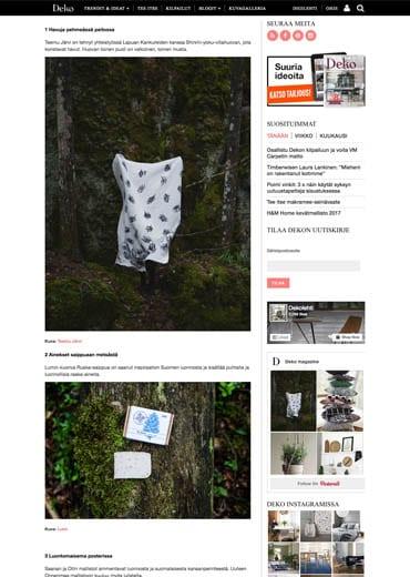 New LUMI Scent + Skincare Line on Finnish lifestyle magazine Dekolehti.