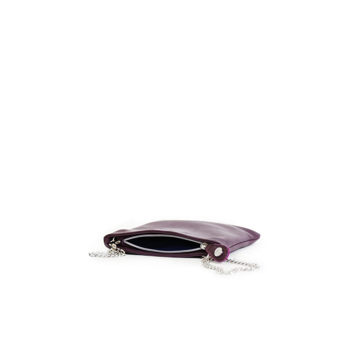 LUMI Laura Envelope Clutch in beautiful rich grape colour.