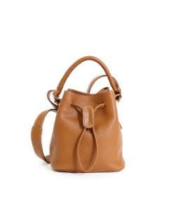 LUMI Klara Small Bucket Bag in timeless and elegant toffee colour.