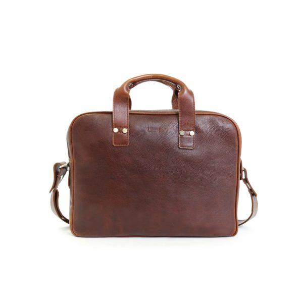 LUMI Jouko Computer Bag, in beautiful brown toffee.