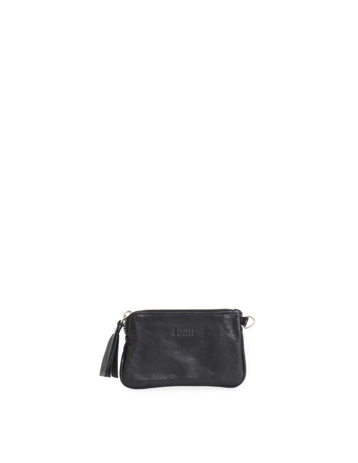 LUMI Anna Wallet, in black, carries your tiny necessities and other daily essentials.