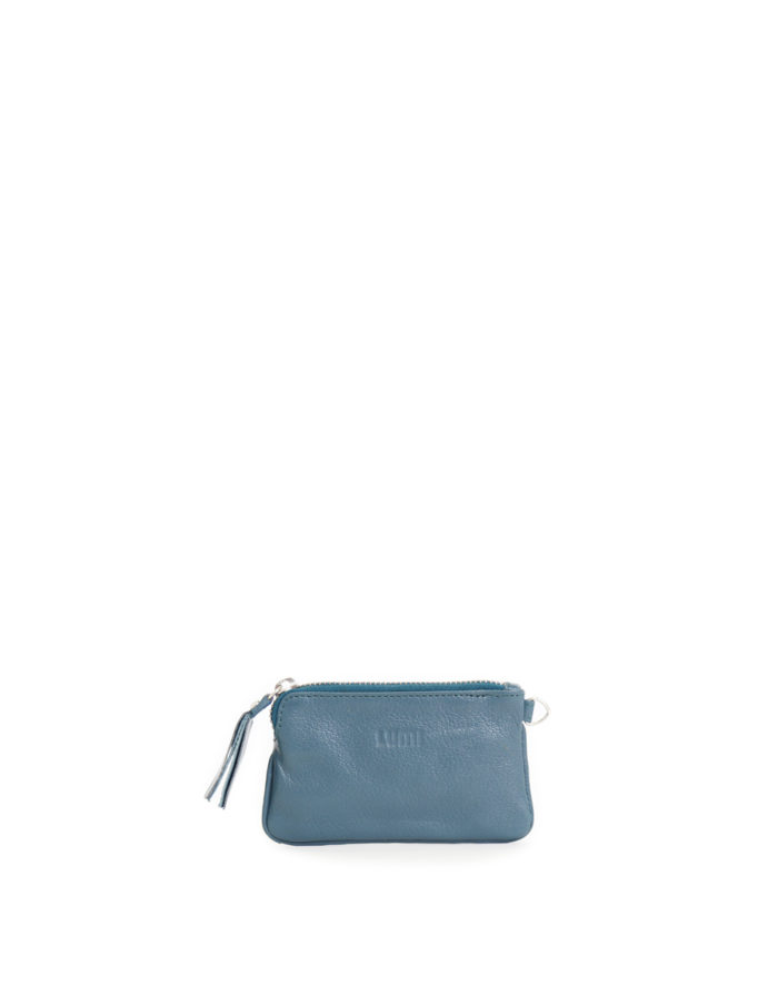 LUMI Anna Wallet, in petrol, carries your tiny necessities and other daily essentials.