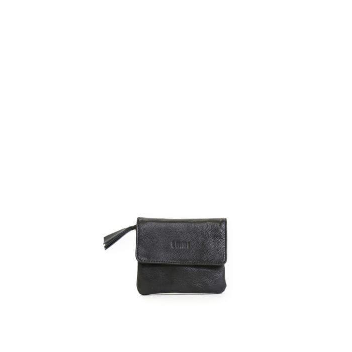 LUMI Emma Wallet, in black, carries your tiny necessities beautifully.