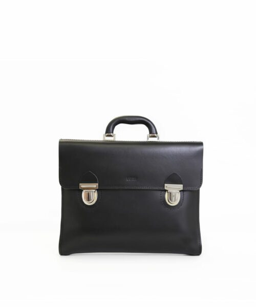 LUMI Kimi Bag, in black, is created using natural vegetable tanned cow leather.