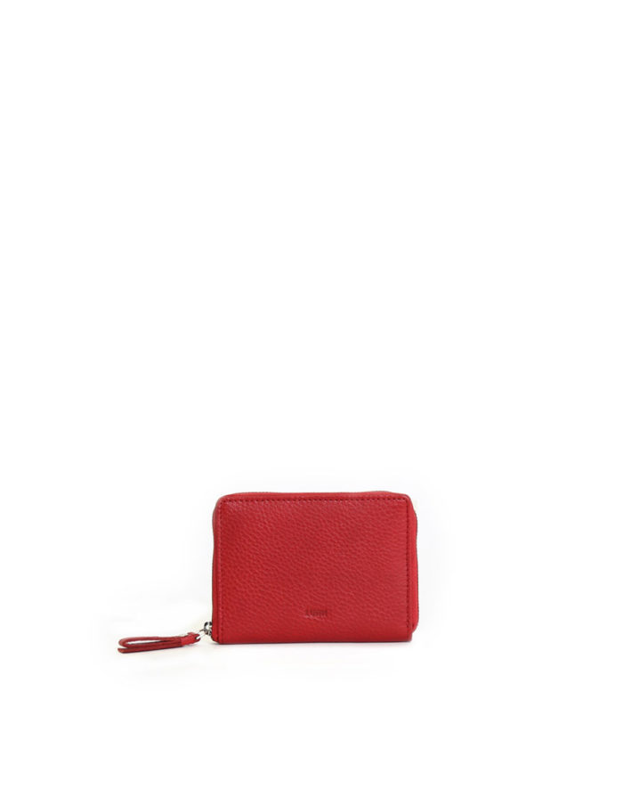 LUMI Ziparound Wallet Medium, in red, is a colourful daily essential.