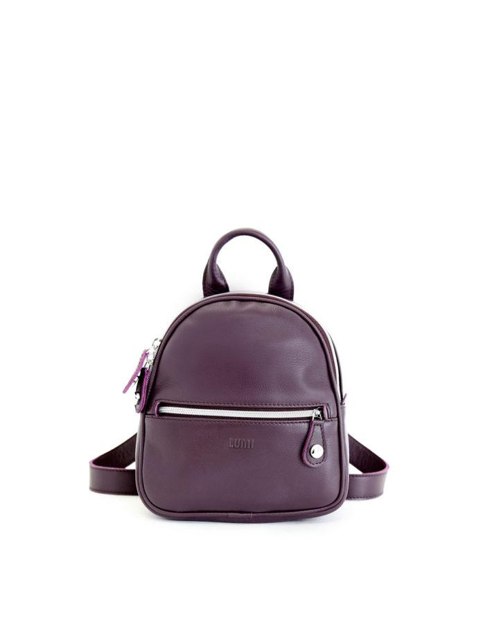 LUMI Kerttu Mini Backpack in beautiful rich grape colour.