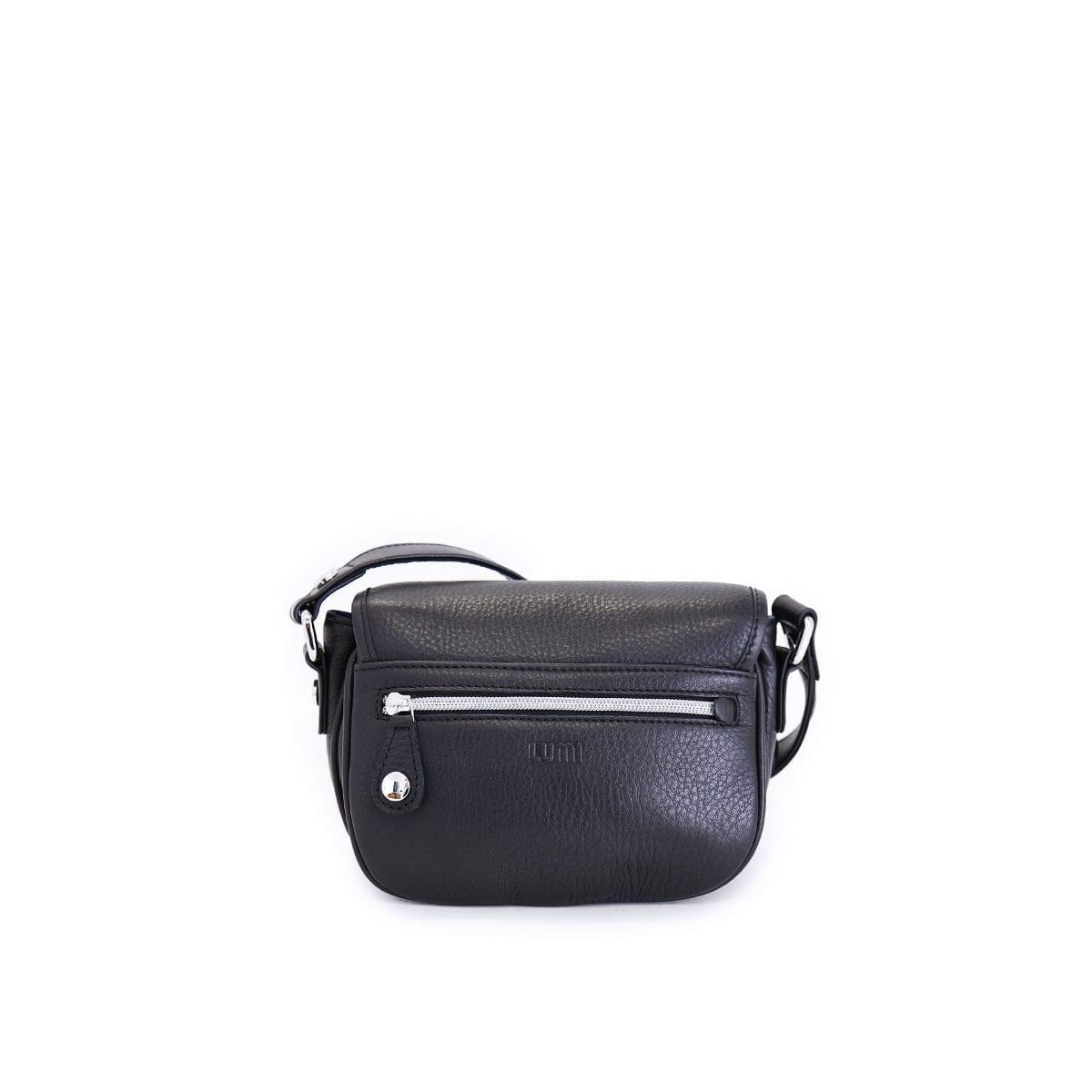 LUMI Olivia Mini Saddler, in black.