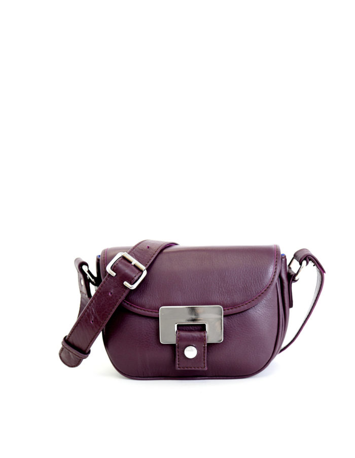 LUMI Olivia Mini Saddler in grape colour.