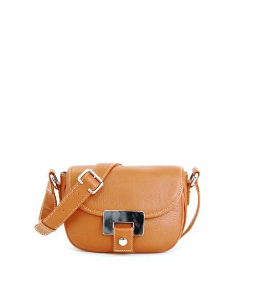 LUMI Olivia Mini Saddler in timeless and elegant toffee colour.
