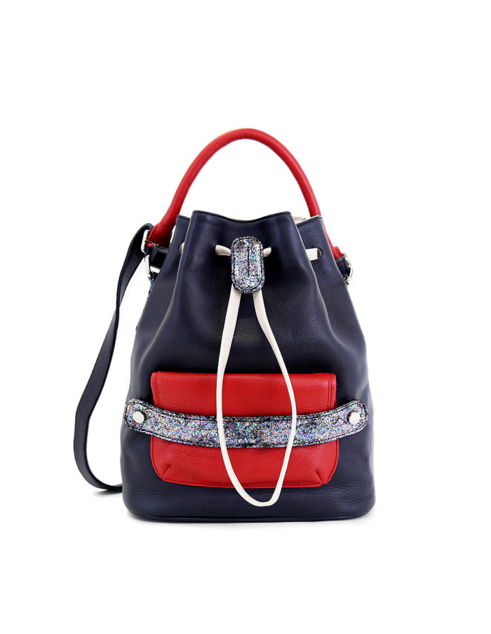 Katariina Bucket Bag is from LUMI Limited Edition – a specialty line of bags and purses made of soft, luxurious leather, featuring hand-crafted detailing and bold, custom-made hardware.