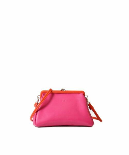 LUMI Kiira Clutch Purse Pink / Coral.