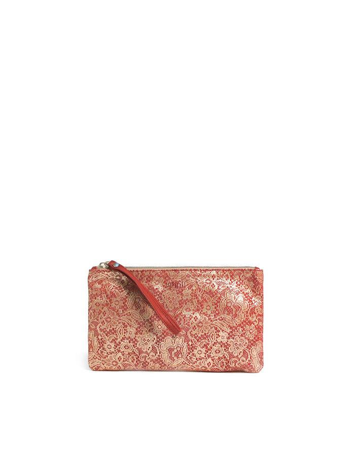 LUMI Peppi Pochette clutch in lace red.